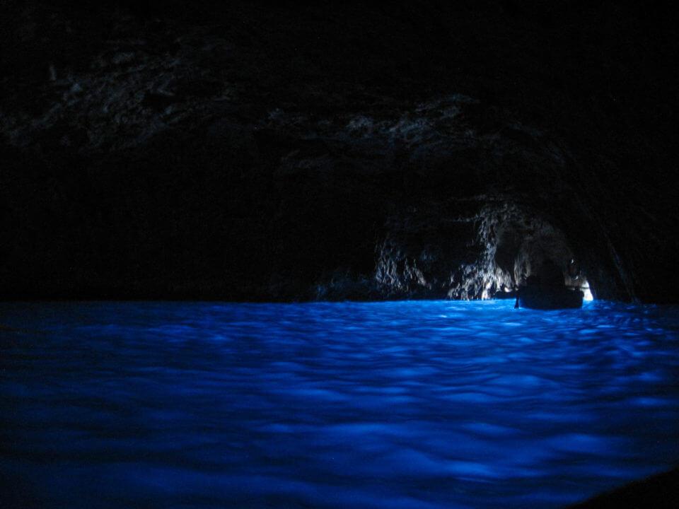 Grotta Azzura belül